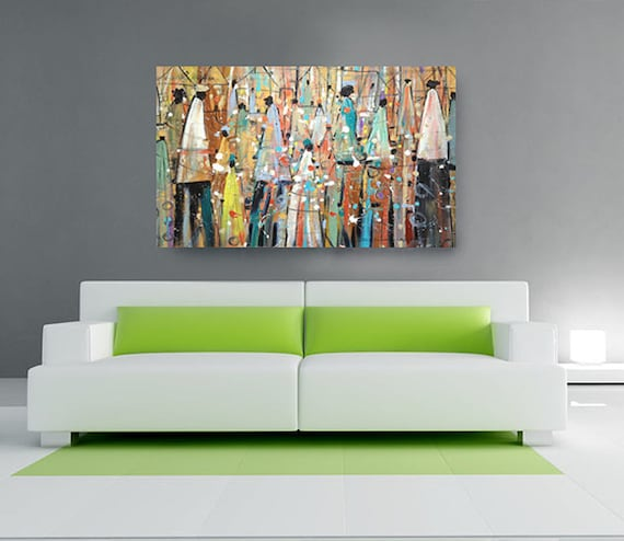 our colorful people canvas african american art canvas art