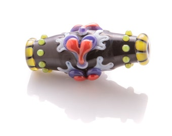 winged-heart barrel bead