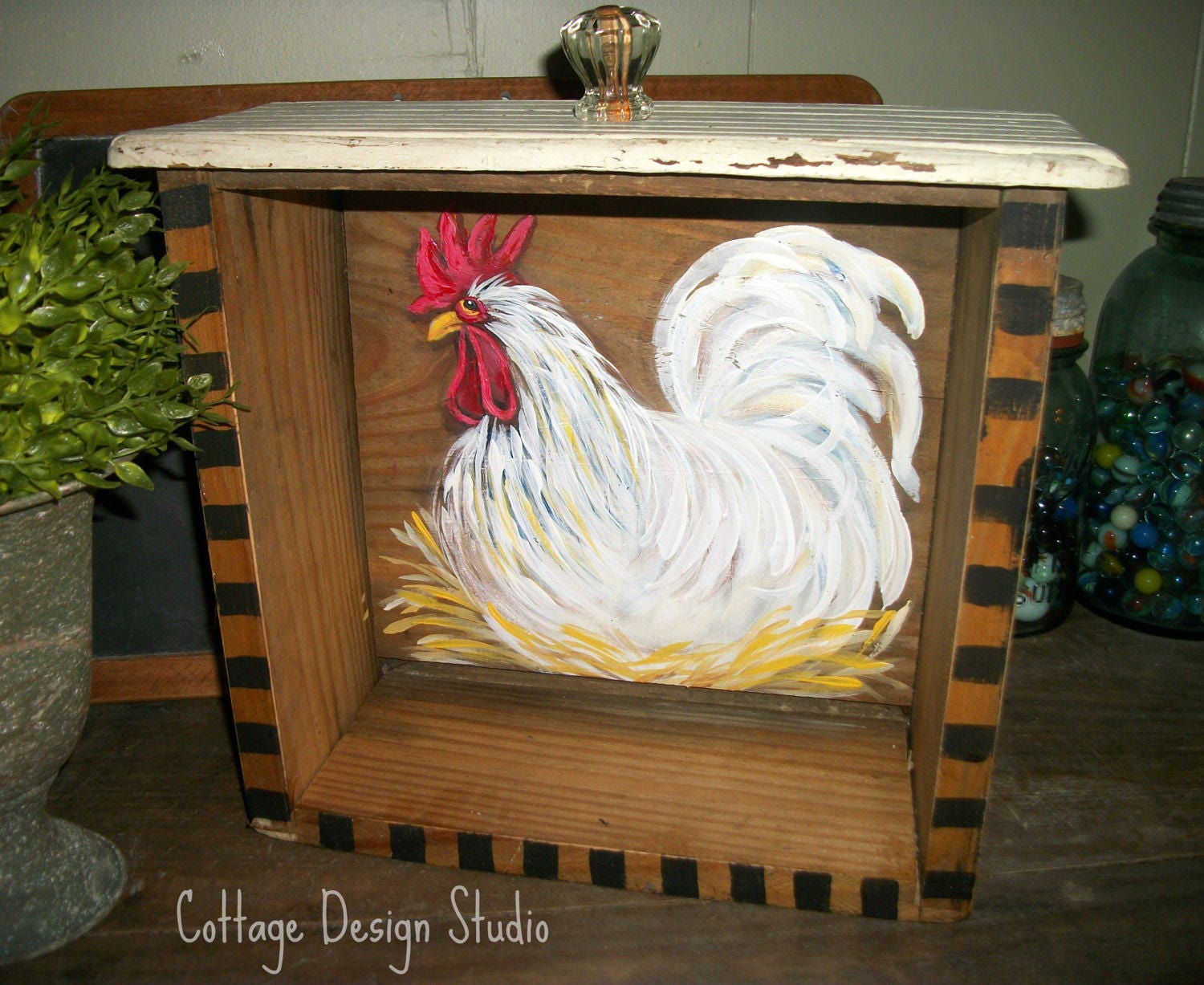 Rooster farmhouse decor rooster kitchen chicken coop decor