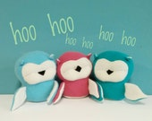 Owl, Handmade, Stuffed Animal, Toy, Children, Plush, Nursery