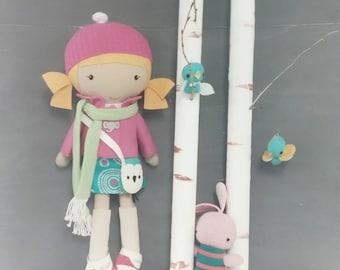 Studio Doll Large - Lotti. Handmade, Doll, Eco Friendly, Plush, Toy, Children, Gift