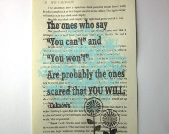 The ones who say you can't are scared that you will print on a book page