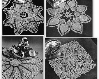 Vintage 1950 Crochet Doily Pattern Book - 15 pages - Like New Condition!