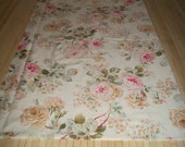 "Country Rose print fabric. 67"" x 21"" Upcycled, prewashed, dressweight cotton. Exactly enough for one pillowcase."