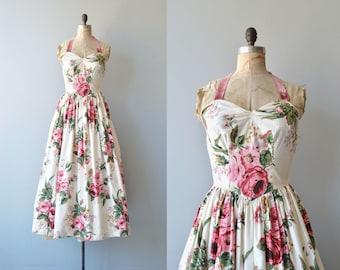 Muse of Vuillard dress | vintage 1940s dress | chintz floral print 40s dress