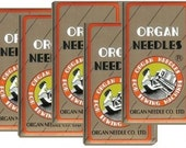 50 Pieces HOME SEWING Machine Needles Assortment (ORGAN 15X1 Size#9,11,14, 16, 18) 10pcs per size by Organ~ZipperStop Wholesale