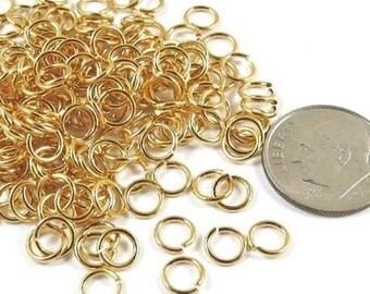 TierraCast 20 Gauge Round Jump Ring - GOLD 5.5mm (200)