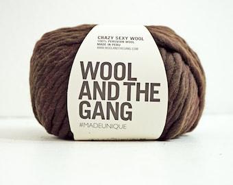 100% Peruvian wool yarn CHOCOLATE