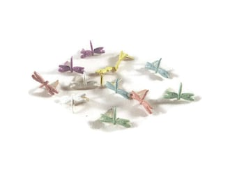 Dragonfly Brads - 12pc - Pastel Assorted | Scrapbook | Paper Fasteners Embellishments