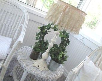 Vintage Lamp * Shabby Chic * Cottage * Old Farmhouse * Ornate