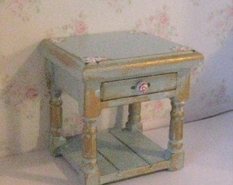 Dollhouse Bedside chest, a dollhouse chest,  miniature chest, bedside,  lamp table, mini lamp table  in twelfth scale