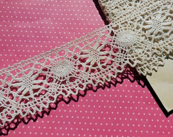 Vintage Lace Trim Cluny Lace Cotton Lace Very Wide