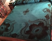 Updated - Glorious Vintage Vicuna Brand Blanket from Ecuador in HTF Turquoise and Teal!