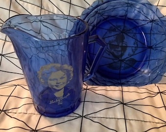 Vintage 1930's Shirley Temple Cereal Bowl, Milk Pitcher - creamer -  Shirley Temple's Picture