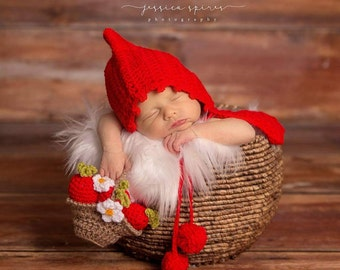 Little Red Riding Hood and Little Basket Photo Prop 0-3moMade To order Ships From Australia