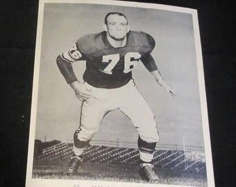 Paul Dickson 8x10 Press Photo Vintage 1960's  Minnesota Vikings Defensive End