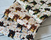 Japanese Fabric Cat Manekineko Fat Quarter Set