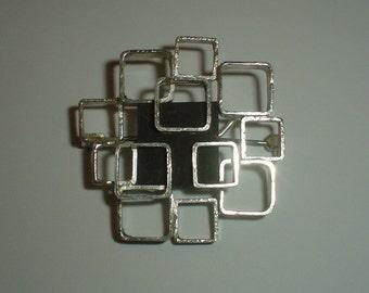 Vintage brooch sterling silver Andreas Daub A*D Pforzheim modernist