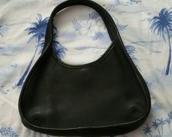 Vintage authentic Coach black leather mini ergo bag in excellent vintage condition