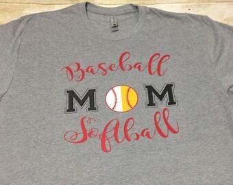 Baseball mom softball mom, baseball shirt