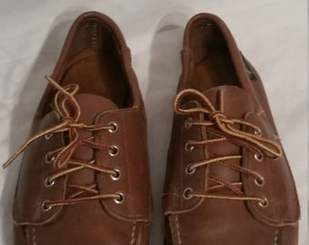 Vintage Eastland boat shoes, size 8 1/2, 8.5, leather