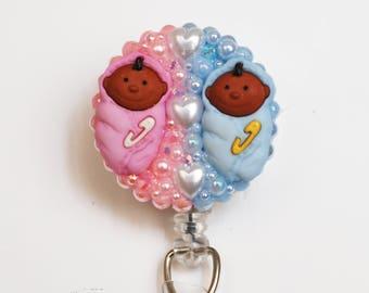 Sweet Baby Bundles ID Badge Reel - Pediatric Nurse ID Badge Holder - Zipperedheart
