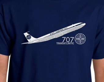 Aeroclassic Pan Am Boeing 707 Airliner Design T-shirt