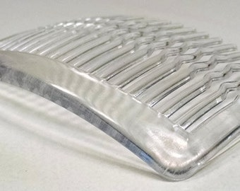 Clear plastic side Hair comb, set of 6 or 12