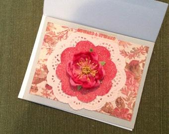 Handmade Words of Encouragement  Card Onward and Upward