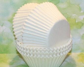 NEW - Jumbo White Cupcake Liners (Qty 32) Jumbo White Muffin Cup, Jumbo White Baking Cup, Jumbo Muffin Cup, Jumbo Cupcake Liner, Baking Cups