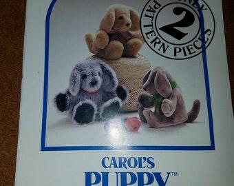 Carol's Zoo Pattern for a Carol's Puppy - unused