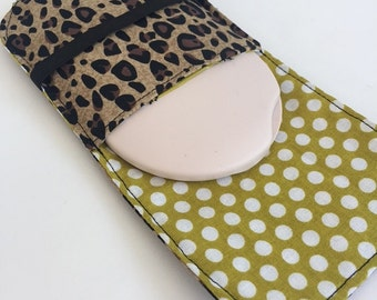 Birth Control Pill Case for Ortho Tri Cyclen Round Pill Cases Pick your Fabric, Design Your Own
