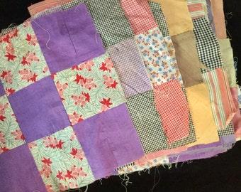 Vintage Quilt Blocks, Nine Patch, Forty Blocks
