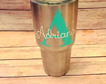 Name Sticker/YETI/RTIC/Monogram/Cup Decal/Name Decal