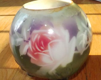 circa 1910 milk glass rose bowl - charity for cats and kittens
