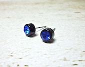 SALE - Diamond Round Stud Earrings
