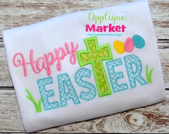 Machine Embroidery Design Embroidery Happy Easter Applique INSTANT DOWNLOAD