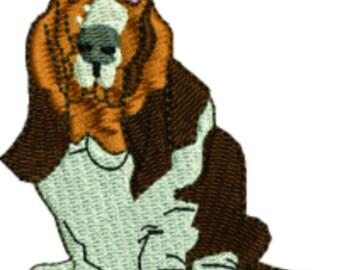 Basset Hound Dog machine embroidery designs