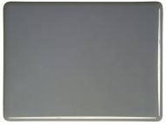 Deco Gray Opalescent Glass 90 COE 3mm Bullseye Sheet Large Pieces