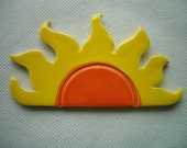PAN - Lg HALF SUN Ceramic Mosaic Tile