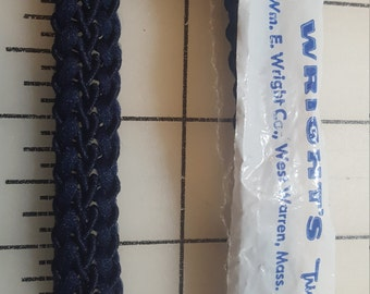 Guimp Style Braid Trim Navy blue almost 4yd