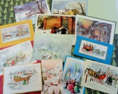 Carriages Sleighs Great Fashions Modern View of Victorian and Edwardian Times in Vintage Christmas Lot No 856 Total of 12