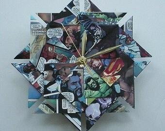 Superhero Origami Clock - Super Gift for Him or Her - Geekery Gift - Groomsmen Gift