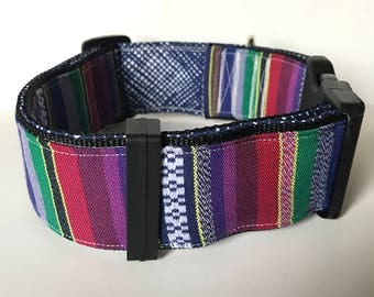 Fresh, modern dog collar for your best friend: Guatemalan Inspired