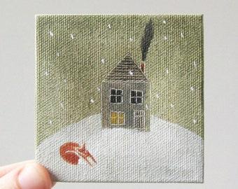 snow showers  / original painting on canvas