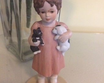 Bessie Pease Gutmann Collectible Figurine 1985 Friendly Enemies