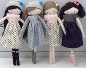 Custom order for Lydia set of 4 rag doll and accesories
