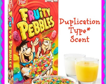 FRUITY PEBBLES Type* Scented Soy Wax Melts Tarts - Duplication Type* - Kids Favorite Breakfast Cereal - Handmade In USA - Highly Scented -