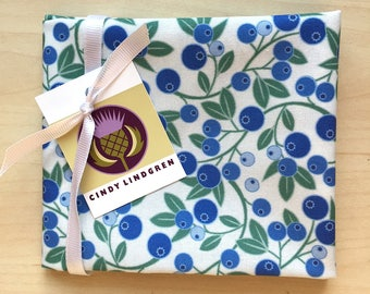 Blueberry Sprig Fabric, Fat Quarter