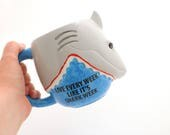 Shark week mug - JAWS - funny mug - scuba diver mug - live every week like it's shark week